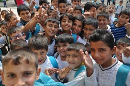 Schulkinder in Ost-Mossul.