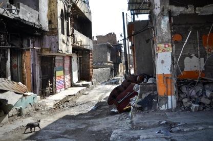 Zerstörte Häuser in der Altstadt Mosuls.