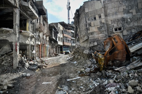 Verwüstung der Altstadt in Mosul.