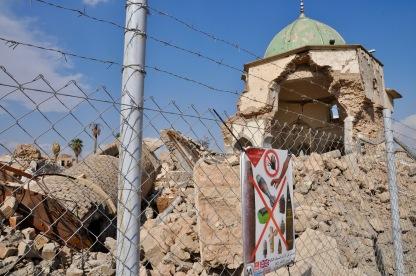 Reste der Al-Nuri Moschee in der Altstadt.