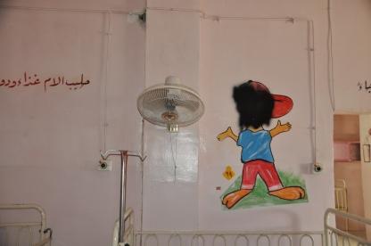 Vom IS geschwärzte Gesichter in der Kinderabteilung des Krankenhauses.