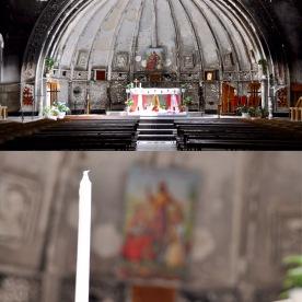 In der vom IS zerstörte Kirche in Hamdeniya finden wieder Gottesdienste statt, Ninewa
