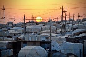 Sonnenuntergang im Khanke Camp, Kurdsitan