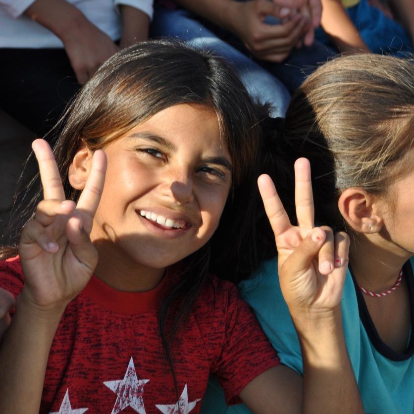 Kindertheater im Flüchtlingscamp Kabarto, Kurdistan