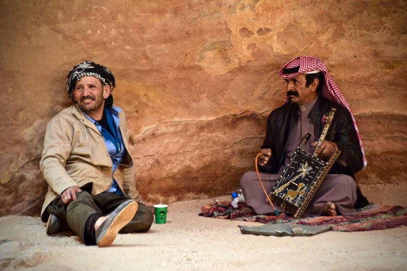Beduinen im Siq