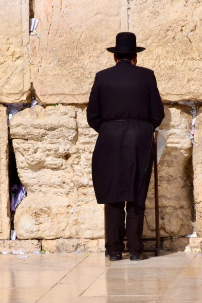 Gläubiger bei der Klagemauer